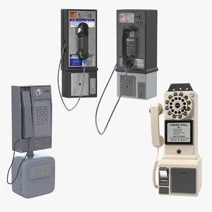 pay phones 3D model