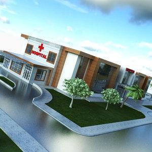hospital 3D model