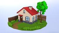 3D house village