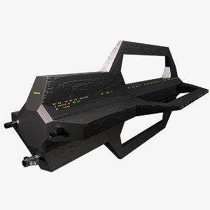 spaceship guns unity 3D model