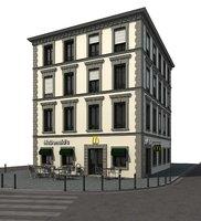 3D building mcdonald s