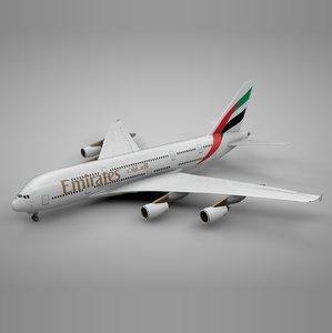 3D airbus a380 emirates l092