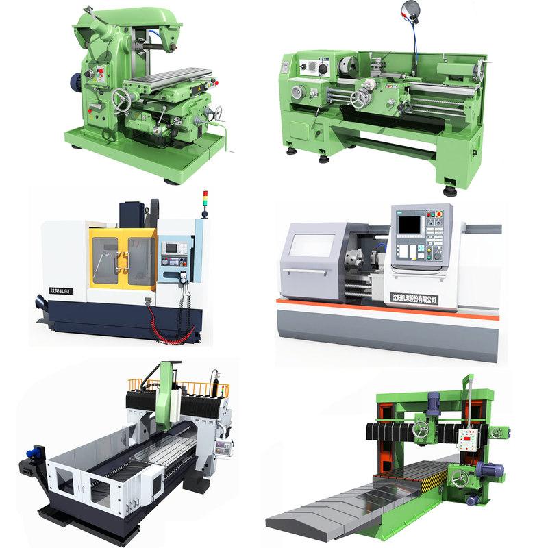 3D industrial equipments lathe tools model