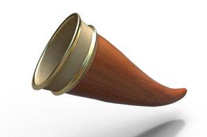 3D ale horn model