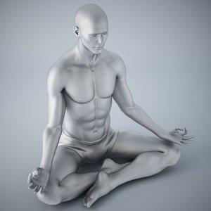 3D yoga man