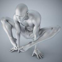 yoga man 3D model