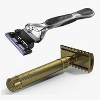 3D model shaving razors