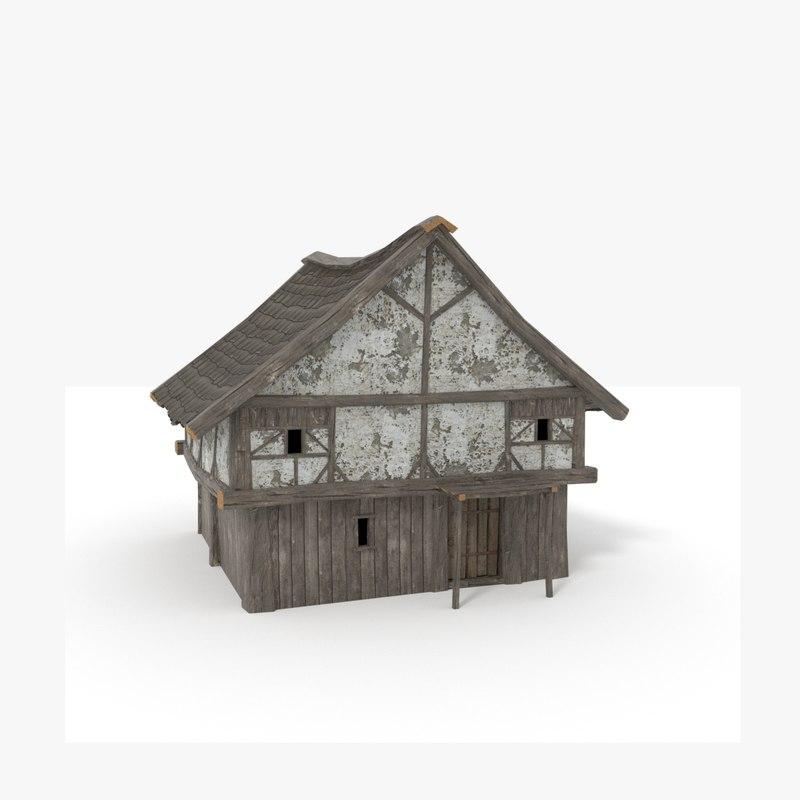 medieval house prb 3D model