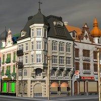 3D bankhaus building classic