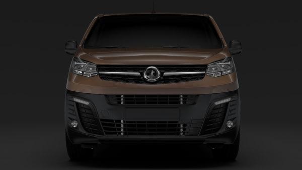 3D vuaxhall vivaro l2 2019 model