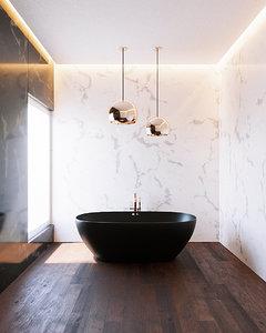 3D interior bath room