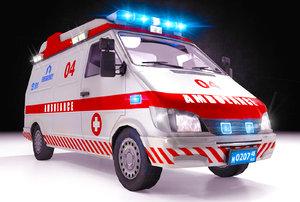 3D ambulance interior model