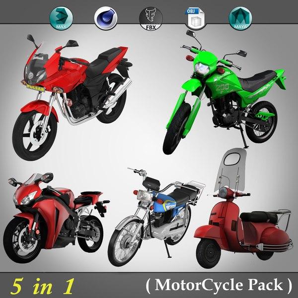 3D model 5 1 motorcycle pack