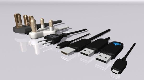 plugs usb micro 3D
