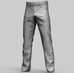 3D jeans pants denim model