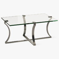 rectangle coffee table metal 3D