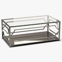 3D rectangle coffee table metal