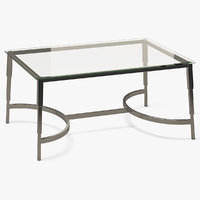 3D rectangle coffee table metal model