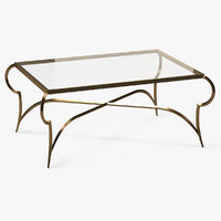 rectangle coffee table metal 3D model
