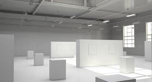 3D industrial art gallery ut