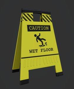 wet floor 3D model