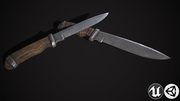 knife weapon 3D model