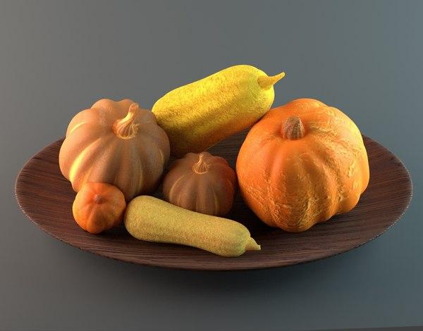 pumpkins squashes model