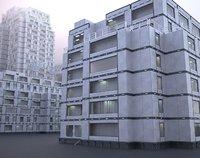 futuristic building model