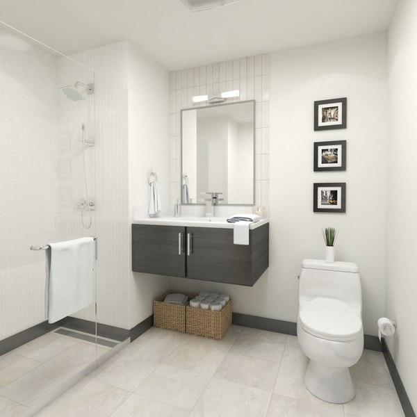 3D elegant small bathroom home