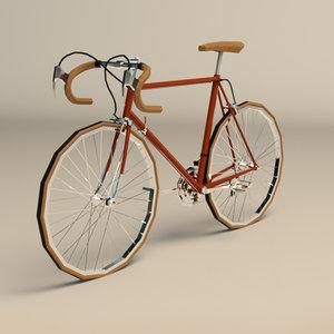 3D vintage racing bike model