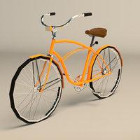 3D model vintage bike cruiser