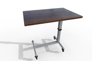 hospital bed table 3D