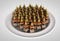 food plate olives cheese 3D model