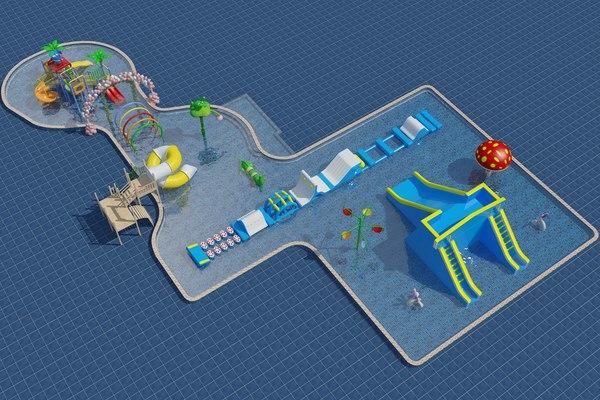 3D water theme park
