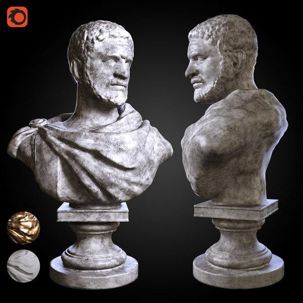 bust roman emperor 3D model