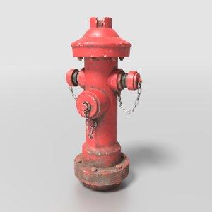 hydrant metallic 3D