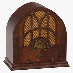 3D antique radio 01