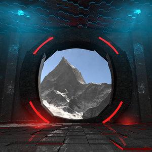 3D concepts majestic structure mountains