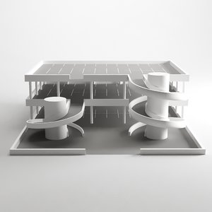 multistorey car park garage 3D model