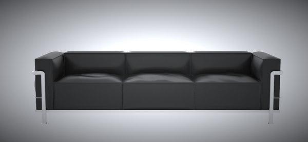 3D model lc3 grand modele sofa seat