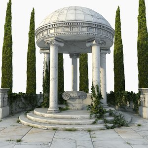 3D ancient greek altar rotunda model