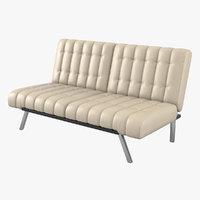 contemporary tufted sofa 3D model