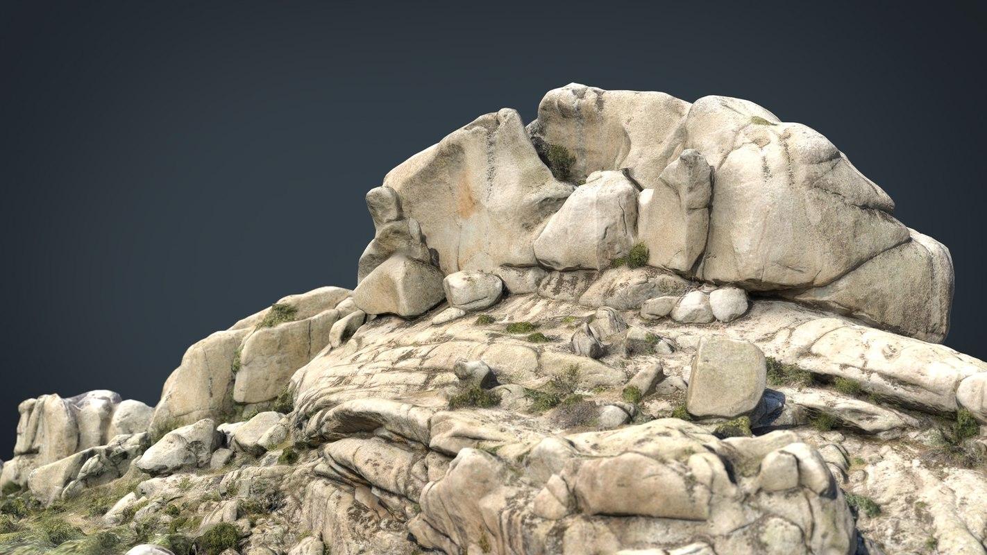 3D mountain rocks 7