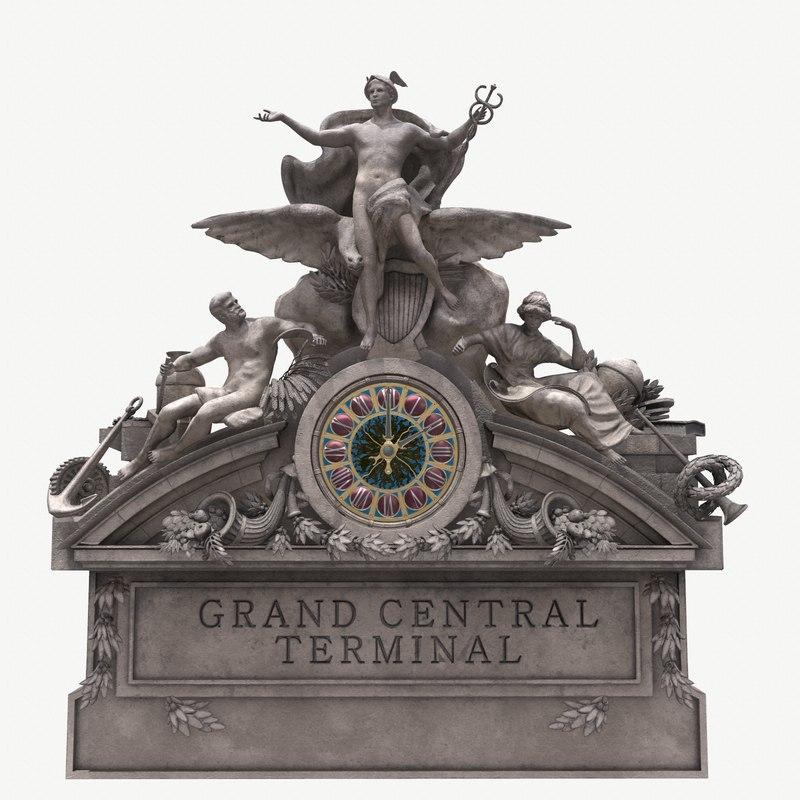 3D realistic grand central sculpture
