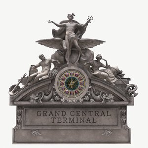 3D realistic grand central sculpture