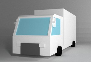 Truck very low poly