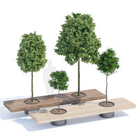 3D tree bench furniture