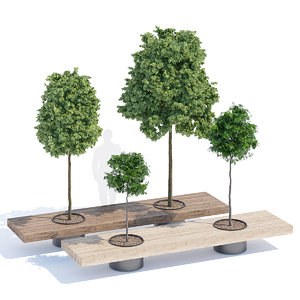 3D tree bench furniture