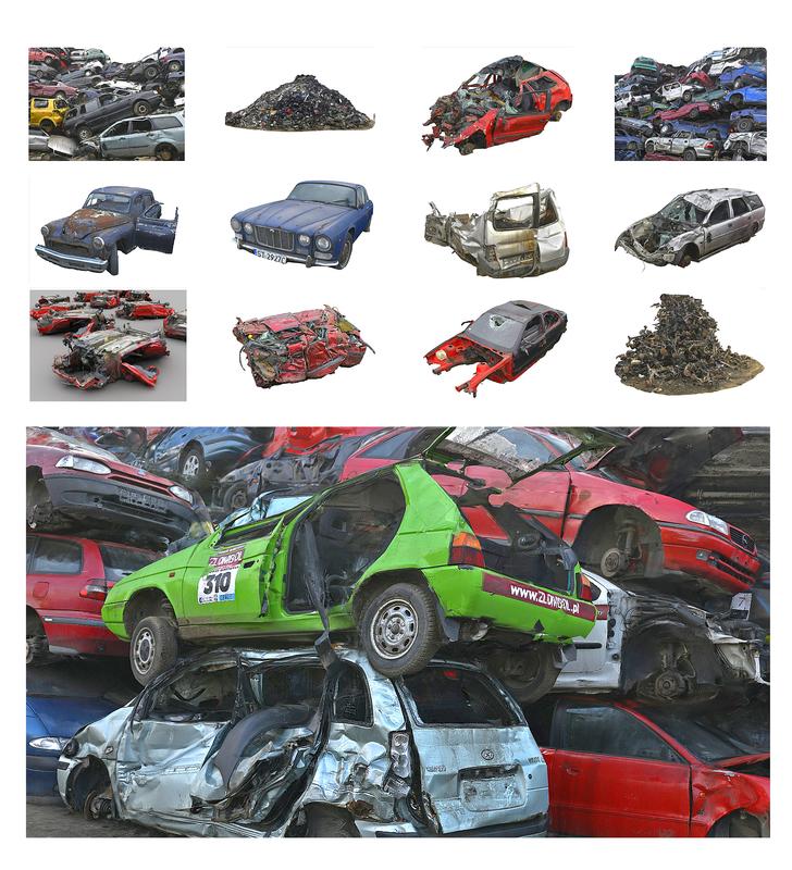 3D vehicle graveyard - car