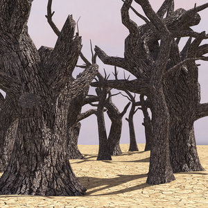 charred trees 5 types 3D